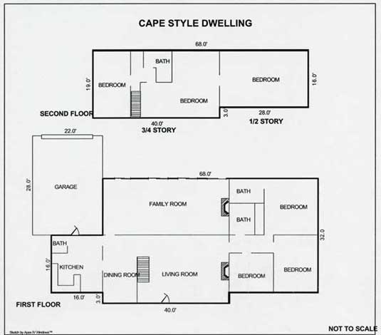 Cape cod vacation rentals in harwich ma vacation home for Rental property floor plans